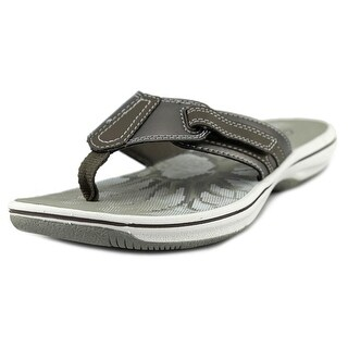 Clarks Narrative Brinkley Jojo Women Open Toe Canvas Bronze Flip Flop Sandal (Option: Multi)