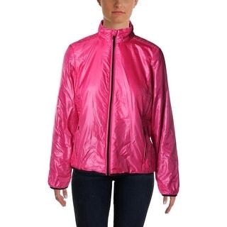 L-RL Lauren Active Womens Quilted Mock-Neck Jacket
