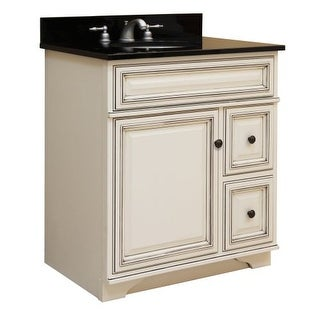 "Sunny Wood SL3021D Sanibel 30"" Maple Wood Vanity Cabinet Only"