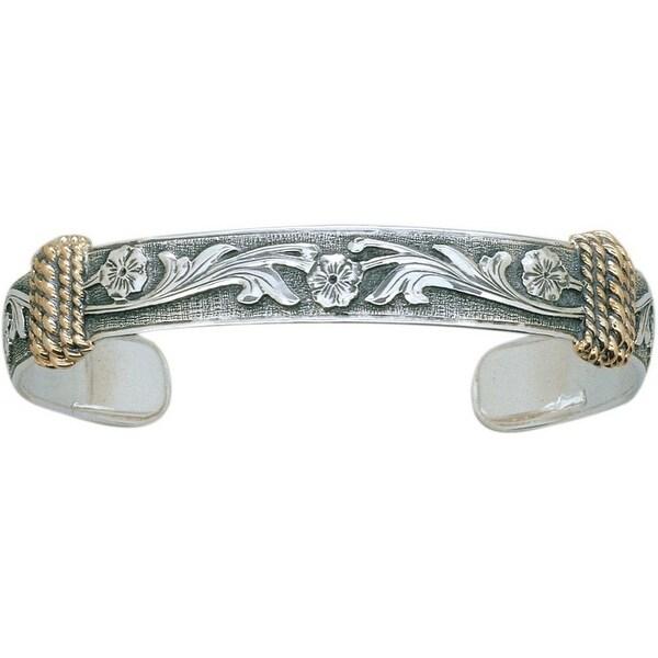 "Vogt Western Women Bracelet Cuff Rope 3/8"" Silver Gold 014-082 - silver gold"