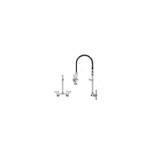 Shop Delta 55p1513 Double Handle Pre Rinse Wall Mount Kitchen Faucet
