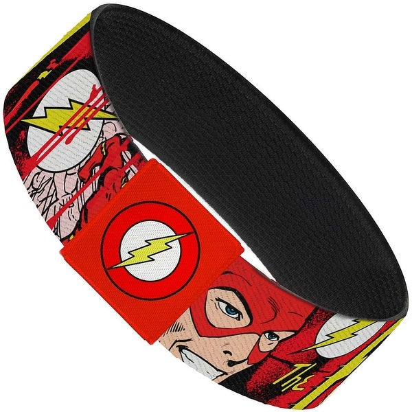 "The Flash In Action Elastic Bracelet 1.0"" Wide"