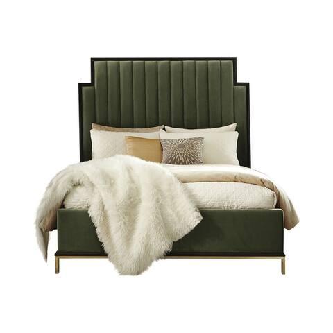Keller Channeled Upholstered Platform Bed