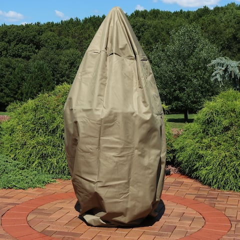Sunnydaze Outdoor Water Fountain Cover - Protective Fit - Khaki - 38-Inch