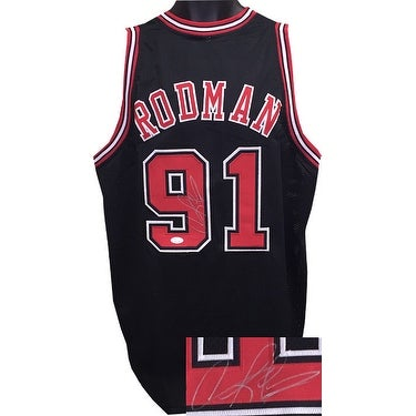 san francisco 9c337 a45a7 Dennis Rodman signed Black TB Custom Stitched Basketball Jersey XL middle  sig JSA Hologram