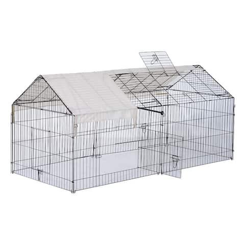 PawHut Outdoor Metal Small Animal Enclosure