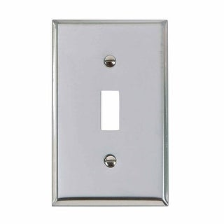 Switchplate Chrome Single Toggle/Dimmer