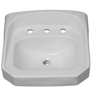 "ProFlo PF5514 20-1/4"" Wall Mounted Rectangular Bathroom Sink - 3 Holes Drilled"