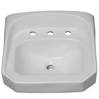 "ProFlo PF5514 20-1/4"" Wall Mounted Rectangular Bathroom Sink - 3 Holes Drilled"