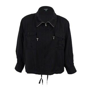 Lauren Ralph Lauren Women's Utility Jacket (Black, XL) - Black
