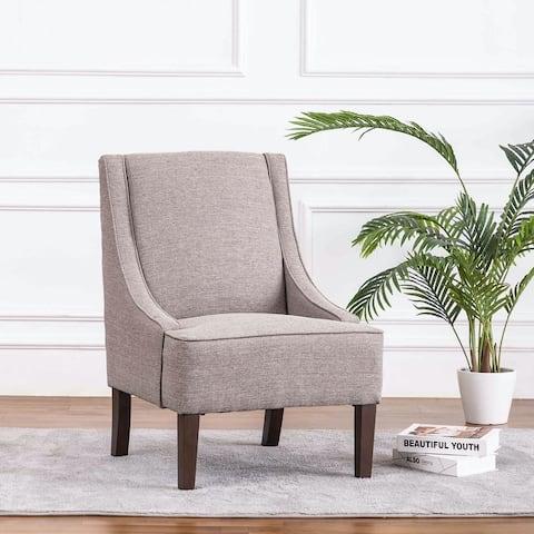 WOVENBYRD Swoop Arm Velvet Accent Chair
