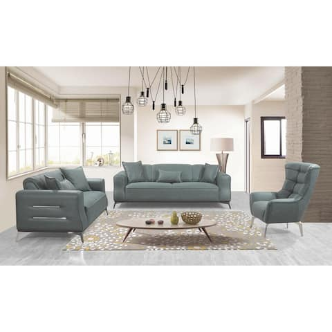 3 Pieces Living Room Set Green