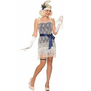 Forum Novelties Gold Coast Socialite Adult Costume - Blue - Standard