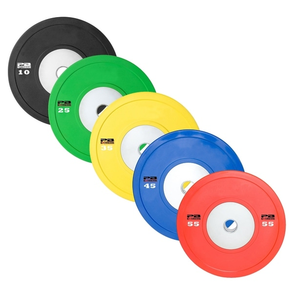PB Extreme Rubber Bumper Plates - Sold in Pairs
