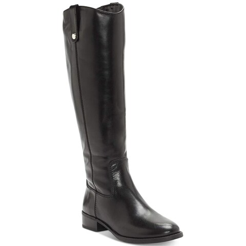 INC International Concepts Womens Fawn WIDE CALF Leather Almond Toe Knee High...