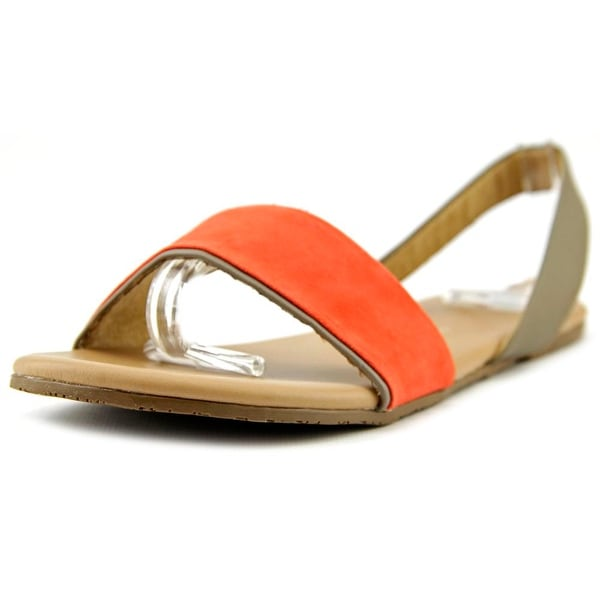 Tkees Charlie Women Open-Toe Leather Slingback Sandal