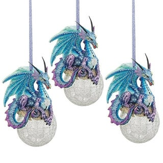 Link to Design Toscano Frost, the Gothic Dragon Holiday Ornament: Set of Three Similar Items in Christmas Decorations