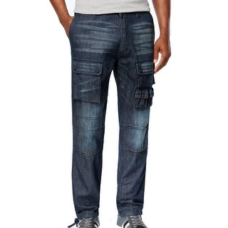 Sean John NEW Washed Blue Mens Size 34X33 Classic Straight Leg Jeans