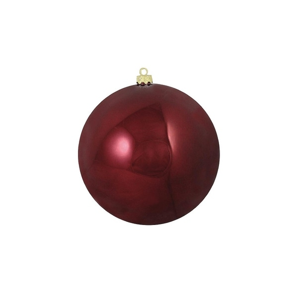 """Shiny Burgundy Red Commercial Shatterproof Christmas Ball Ornament 6"""" (150mm)"""
