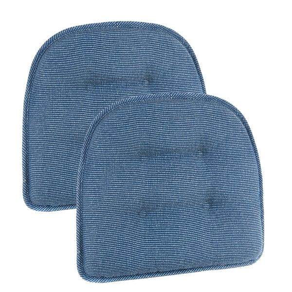 """Gripper Non-Slip 15"""" x 16"""" Saturn Tufted Chair Cushions Set of 2"""