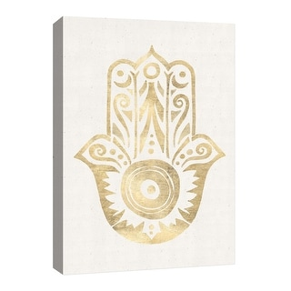 """PTM Images 9-126676  PTM Canvas Collection 8"""" x 10"""" - """"Golden Palm"""" Giclee Hamsa Art Print on Canvas"""
