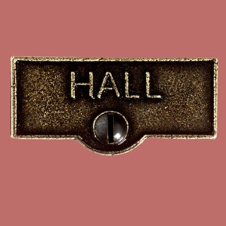 Switch Plate Tags HALL Name Signs Labels Cast Brass