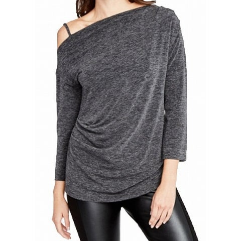 Rachel Rachel Roy Gray Women's Size XXL One-Shoulder Knit Top