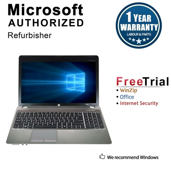 "Refurbished HP ProBook 4530S 15.6"" Intel Core i3-2350M 2.30GHz 4GB DDR3 120GB SSD DVD Windows 10 Pro 64 Bits 1 Year Warranty"