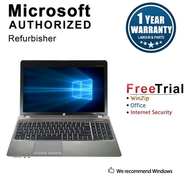 Refurbished HP ProBook 4530S 15.6'' Laptop Intel Core i3-2350M 2.3G 4G DDR3 250G DVD Win 10 Pro 1 Year Warranty - Silver