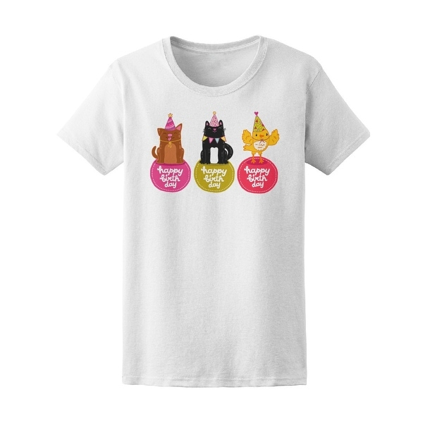 Shop Happy Birthday Cute Animals Tee Womens Image By Shutterstock
