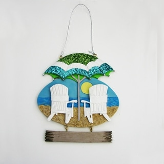 """Pack of 12 Beach Chairs with Umbrella Christmas Ornaments for Personalization 5"""""""