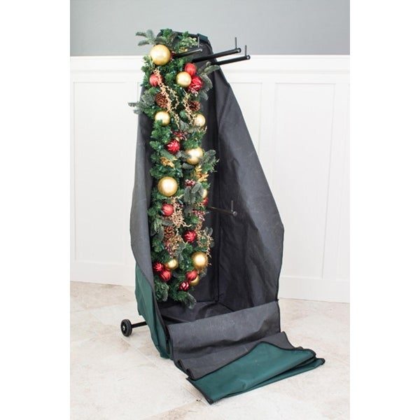 Christmas Garland & Wreath Protective Deluxe Rolling Storage Bag - Holds 4 Large Garlands & 2 Wreaths