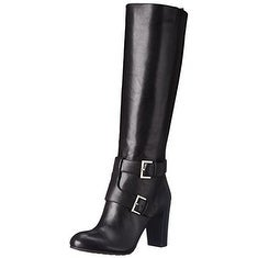 Nine West Womens Skylight Leather Almond Toe Knee High Fashion Boots