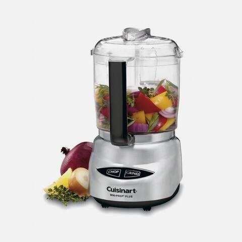 Cuisinart CGC-4PCFR Mini-Prep Plus Food Processor, Silver, Certified Refurbished