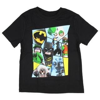 Lego Batman Movie Boy's Character Panel T-Shirt Joker Riddler Robin Mr. Freeze