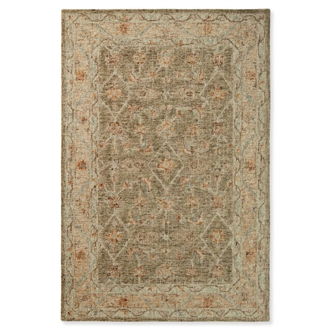 Alexander Home Transitional Mosaic Hand-hooked 100% Wool Rug
