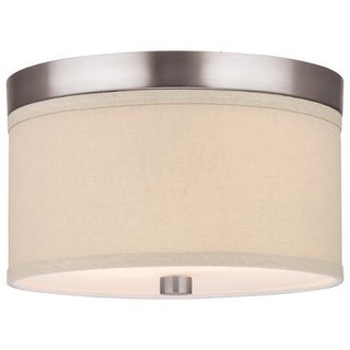 "Forecast Lighting F131736 2 Light 10.25"" Wide Flush Mount Ceiling Fixture from the Embarcadero Collection - Satin Nickel"