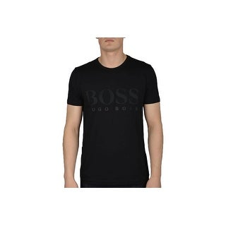 Hugo Boss Green Men's Modern Fit Jersey Logo T-Shirt Black