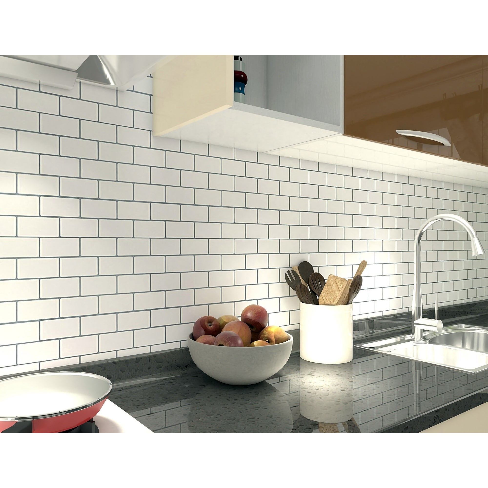 Art3d 12 X12 Vinyl Peel And Stick Backsplash Tile 10 Pack Floral White Overstock 31500800