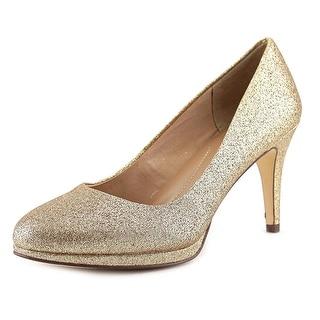 Style & Co Nikolet Women  Round Toe Synthetic Gold Heels