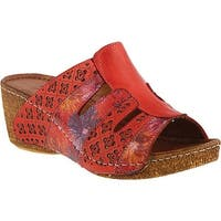 Spring Step Women's Onaona Slide Red Leather