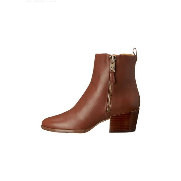 Marc Fisher Womens Bartly Leather Closed Toe Ankle Chelsea, Brown, Size 9.0