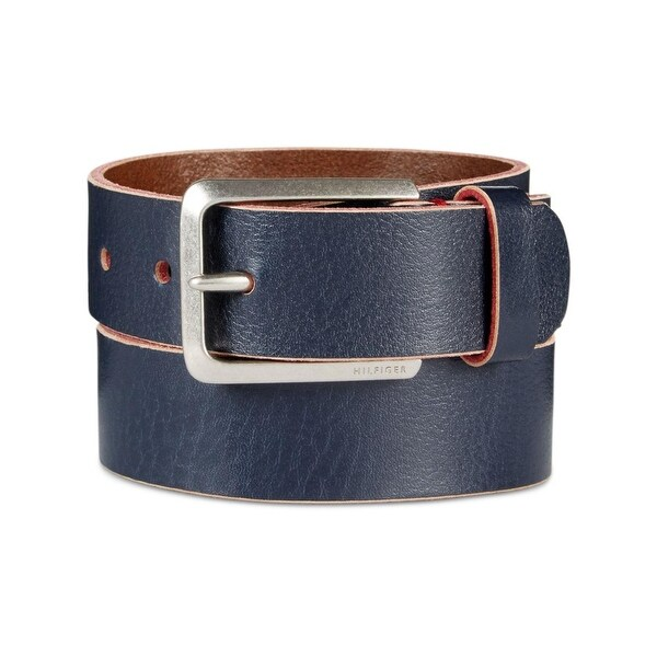 Tommy Hilfiger Mens Dress Belt Leather Painted