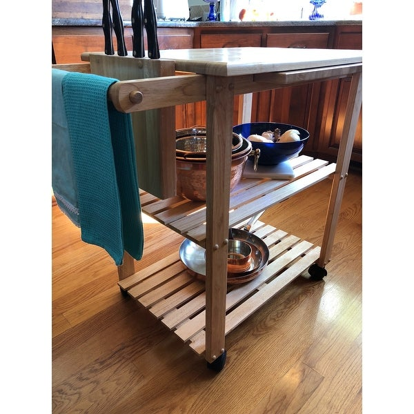 Winsome Wooden Storage Kitchen Utility Cart With Pull Out Cutting Board    Free Shipping Today   Overstock.com   18896071