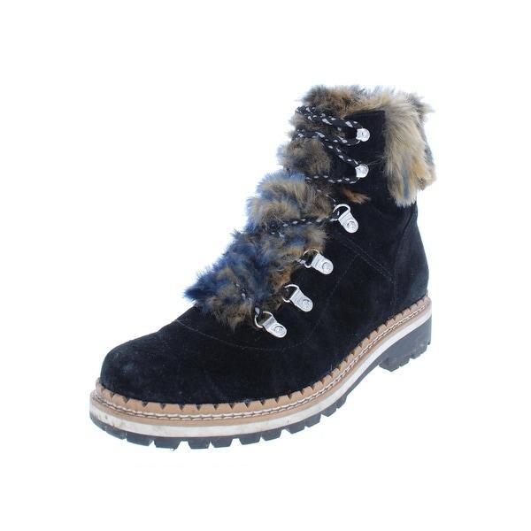 1fe63e750 Shop Sam Edelman Womens Bronte Ankle Boots Suede Faux Fur - Ships To ...
