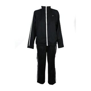 Nike Black White Stripe Training Jacket And Pants L