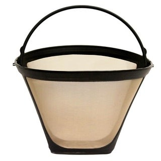 GoldTone Reusable #4, 8-12 Cup Cone Style Replacement Coffee Filter, Fits Cuisinart Coffee Makers and Brewers