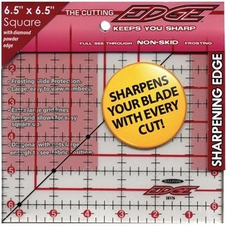 The Cutting EDGE Frosted Ruler-6-1/2 X6-1/2