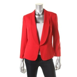 Nine West Womens Lined Long Sleeves Open-Front Blazer - 8
