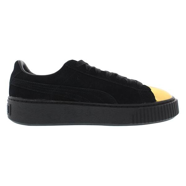 outlet store 3f899 c8d65 Shop Puma Suede Platform Gold Women's Shoes - Free Shipping ...